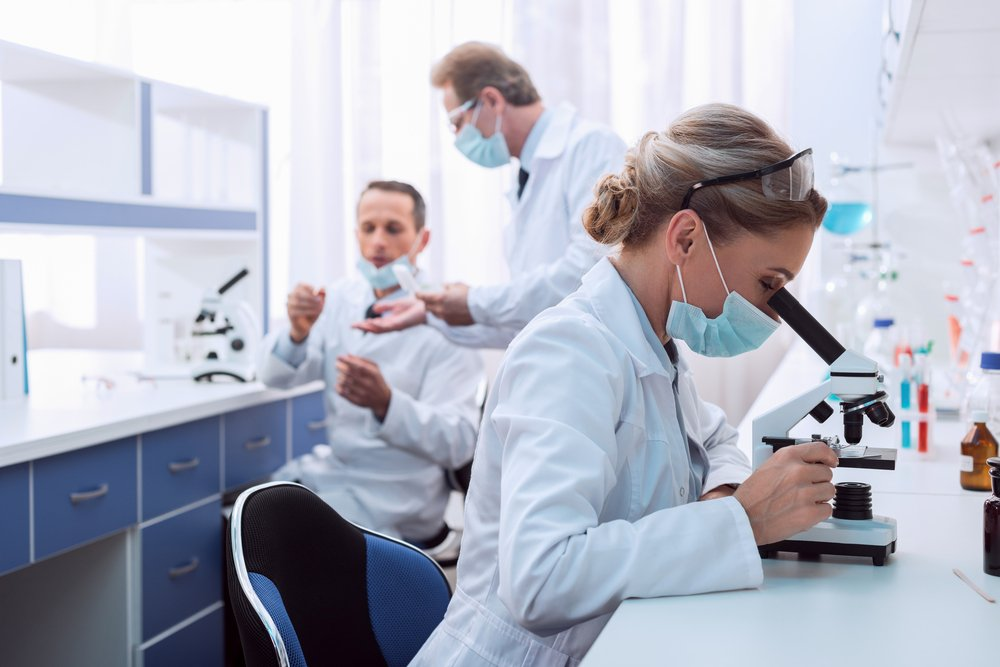 researchers in a medical lab