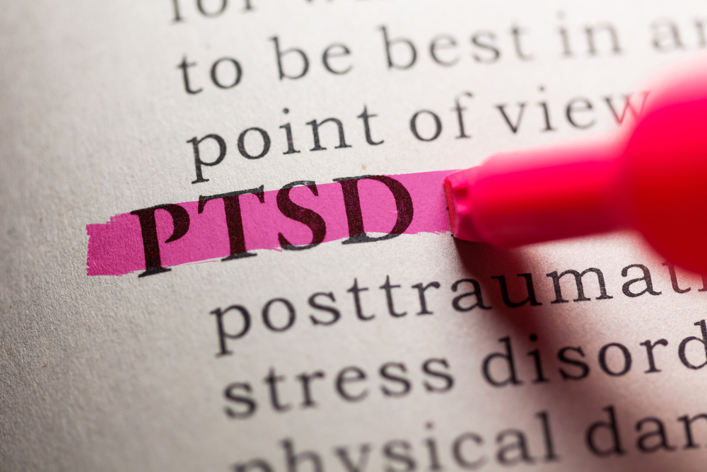 dictionary entry highlighted for PTSD