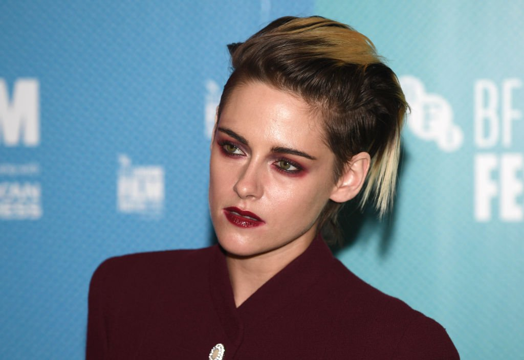 """LONDON, ENGLAND - OCTOBER 04: Kristen Stewart attends the """"Seberg"""" screening during the 63rd BFI London Film Festival at BFI Southbank on October 04, 2019 in London, England"""