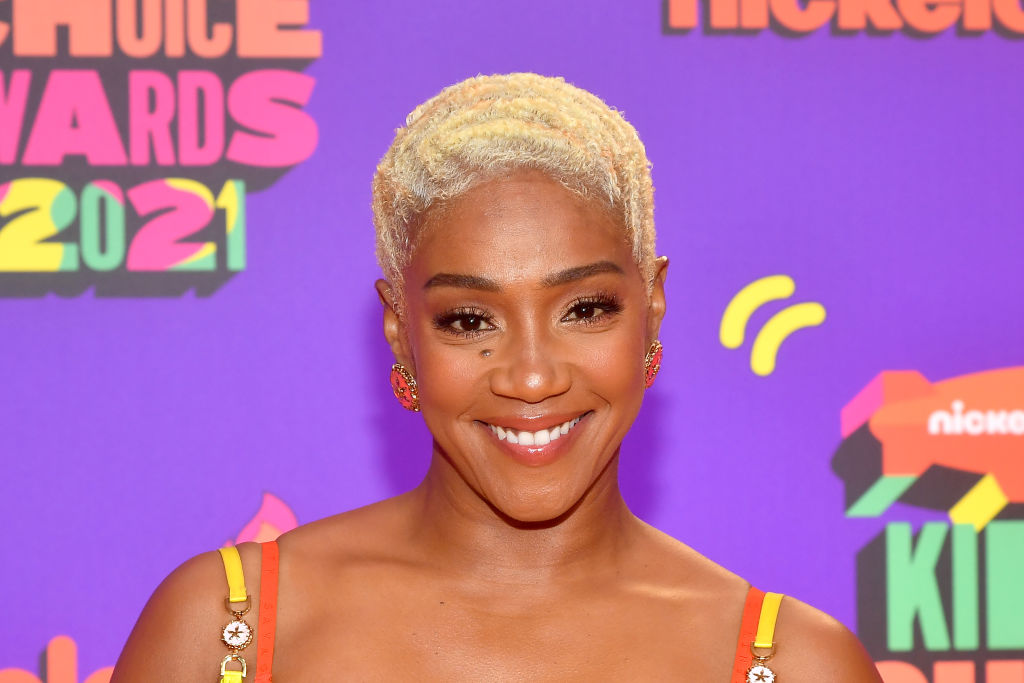 SANTA MONICA, CALIFORNIA - MARCH 13: In this image released on March 13, Tiffany Haddish attends Nickelodeon's Kids' Choice Awards at Barker Hangar on March 13, 2021 in Santa Monica, California. (