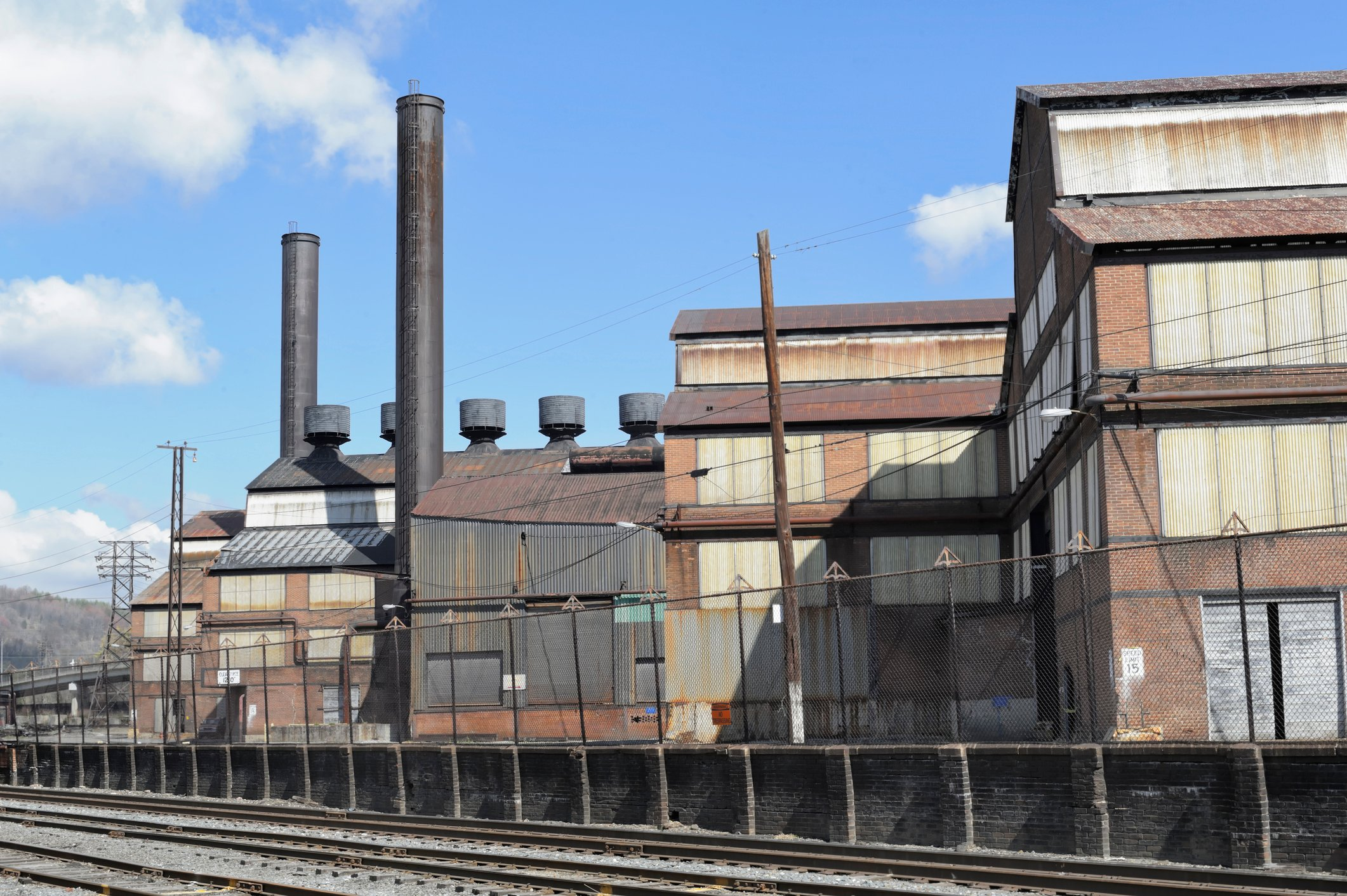 Steel Mill Buildings Close Up, Johnstown, PA, USA
