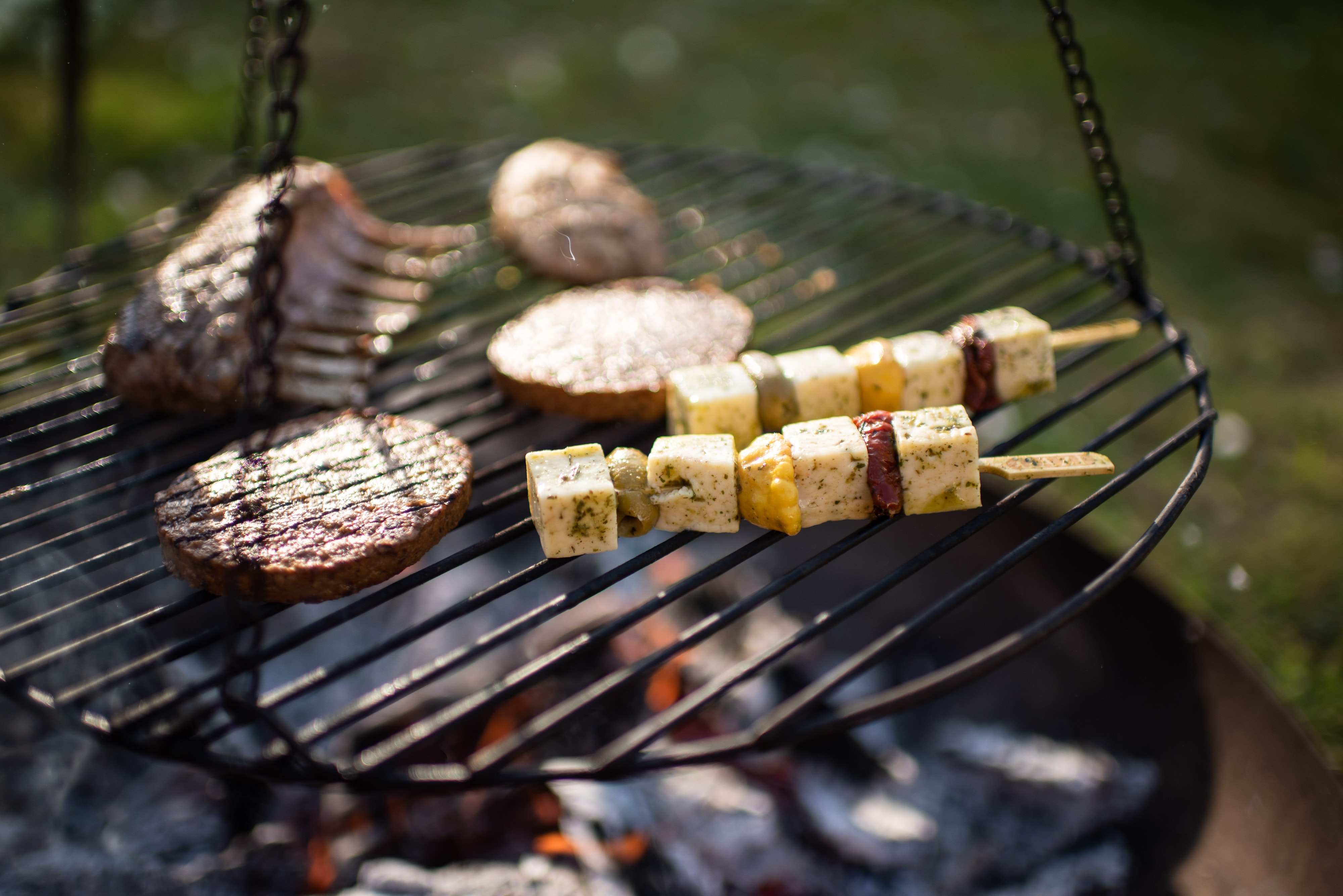Grill in spring over the fire