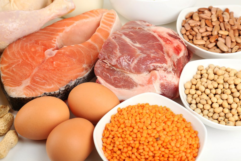 protein-rich meats and plant-based foods