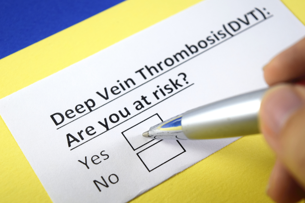 at risk concept image for deep vein thrombosis