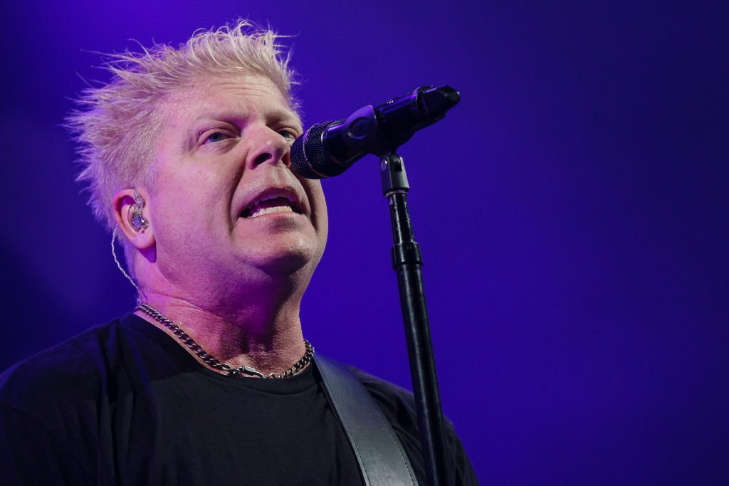 SAO PAULO, BRAZIL - OCTOBER 29: Dexter Holland singerr of The Offspring performs live on stage at Espaco das Americas on October 29, 2019 in Sao Paulo, Brazil.
