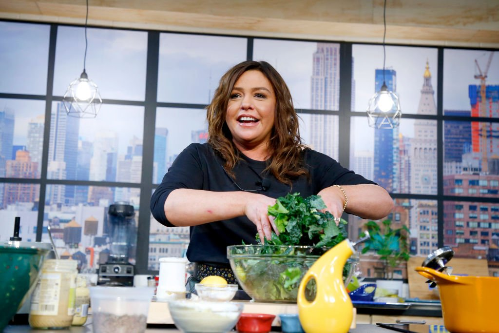 Chef Rachael Ray onstage during a culinary demonstration at the Grand Tasting presented by ShopRite featuring Culinary Demonstrations at The IKEA Kitchen presented by Capital One at Pier 94 on October 12, 2019 in New York City.