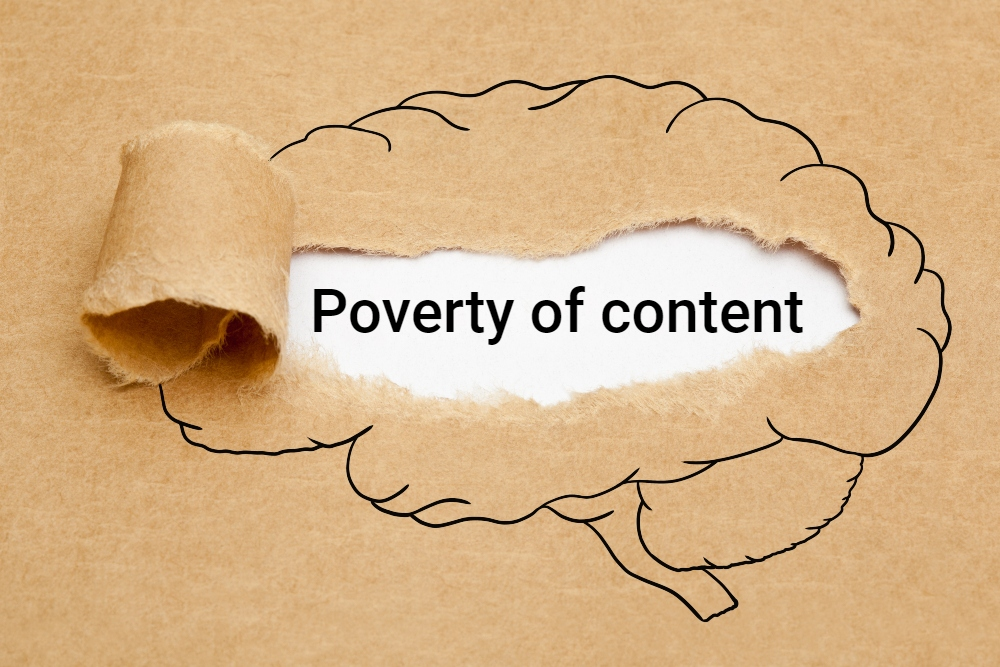 mental health concept poverty of content