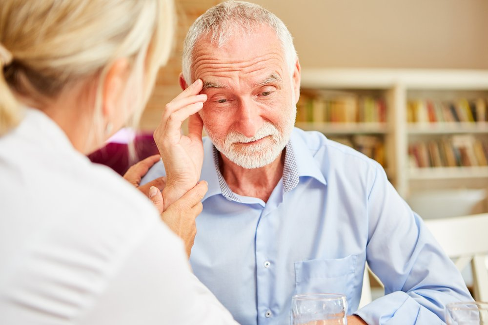 older man looks confused, memory problems