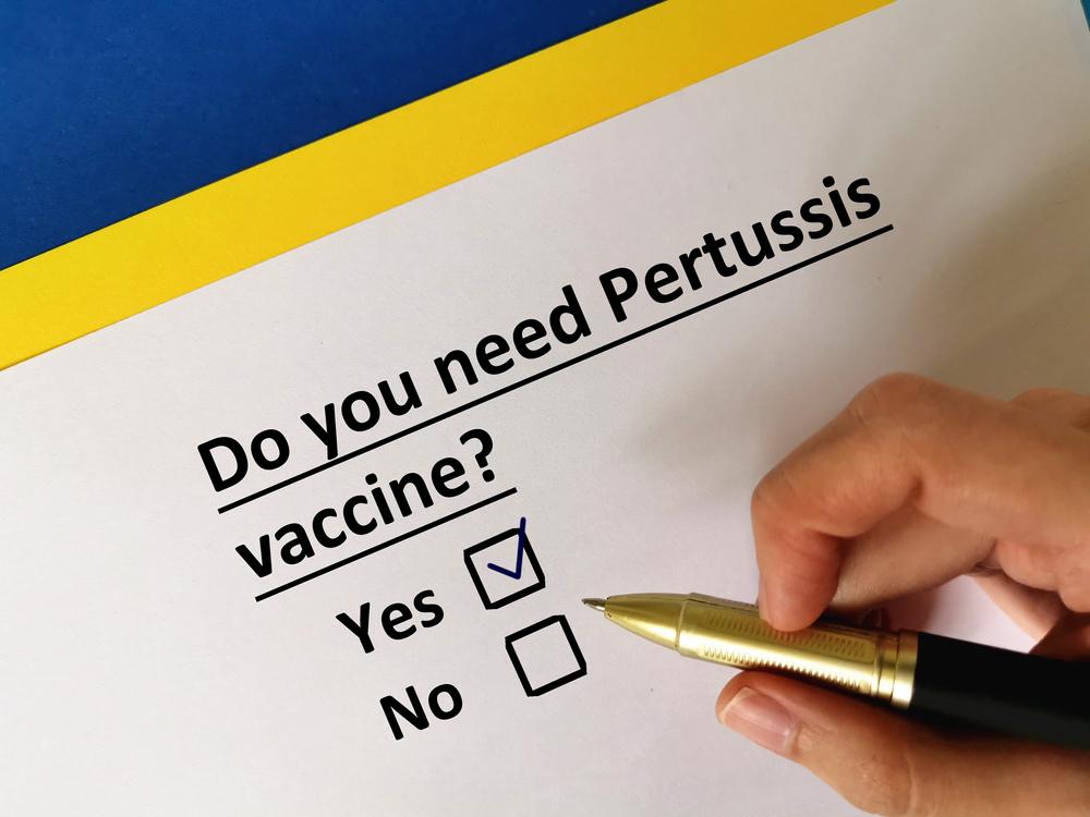 pertussis vaccine checkbox concept