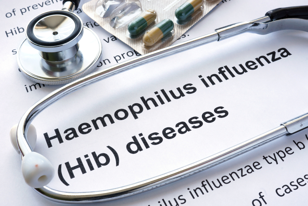 diagnosis concept with stethoscope haemophilus influenza diseases