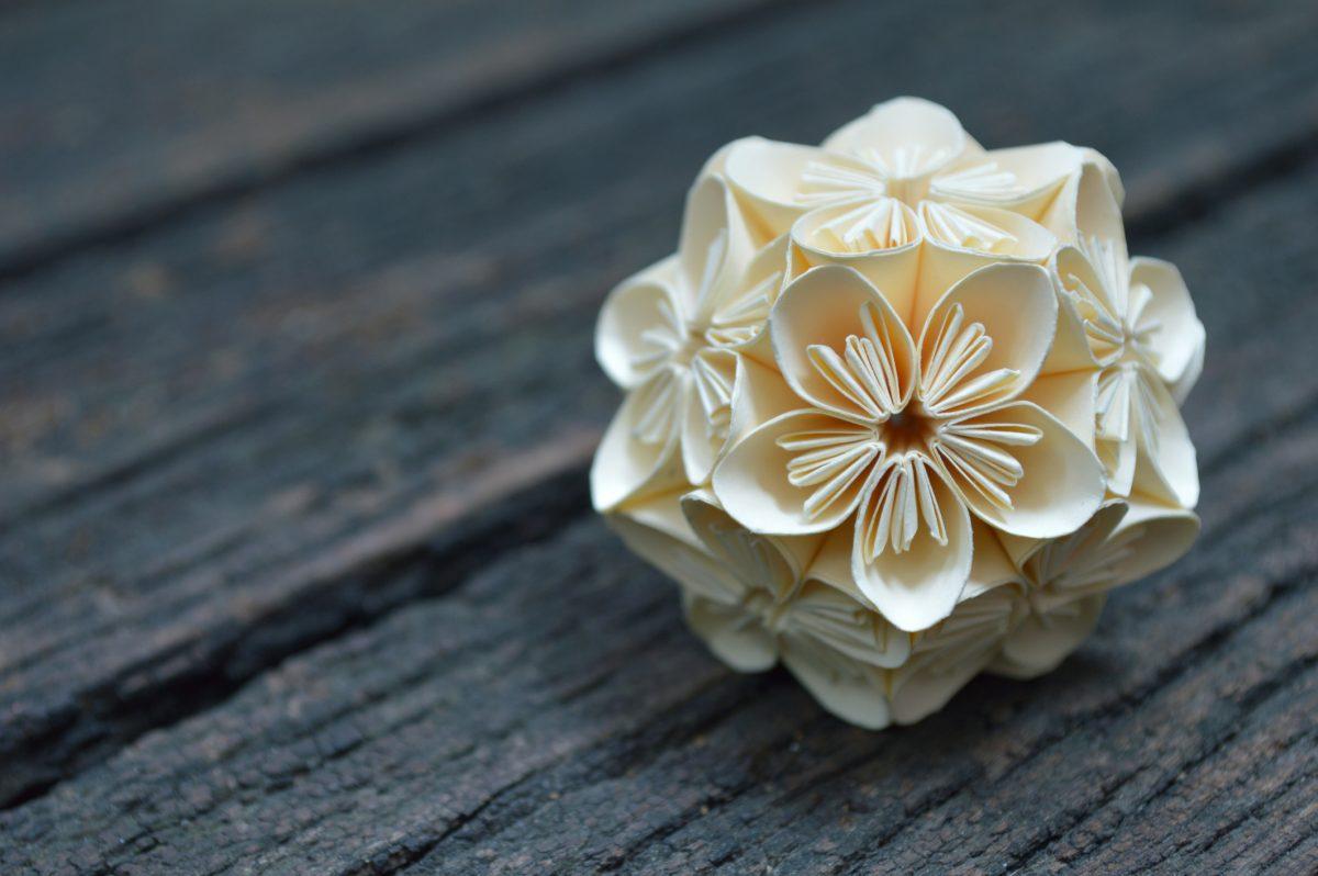 art piece origami flower