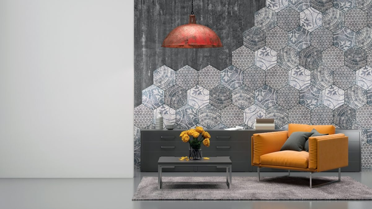 Use textured wallpaper for your accent wall to make an even bigger impression.