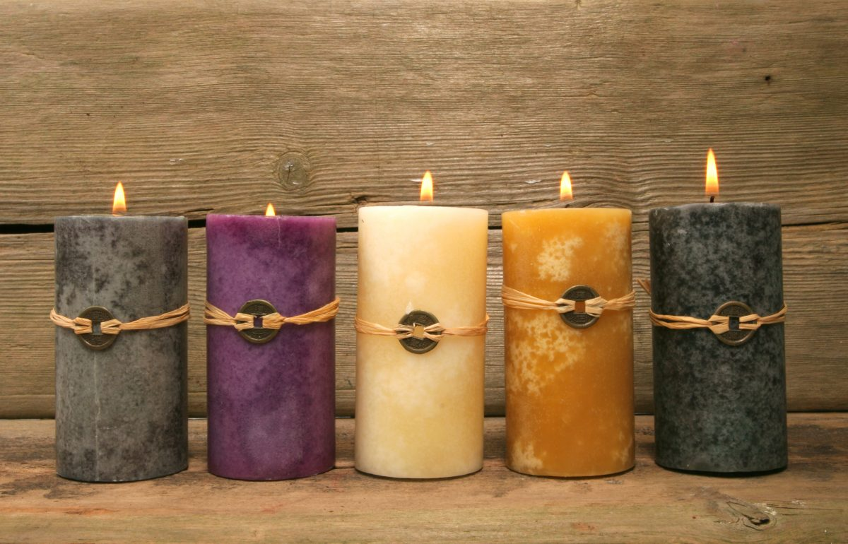 five elements energy flow candle