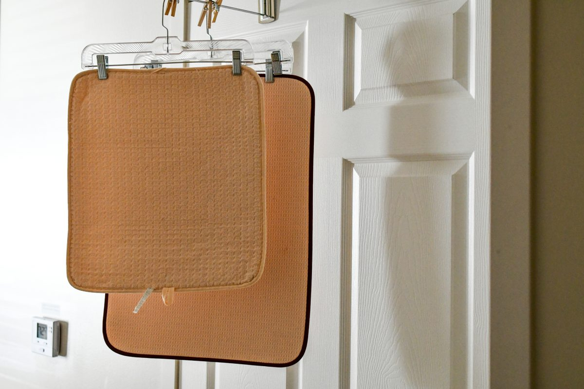 bath mat hang dry