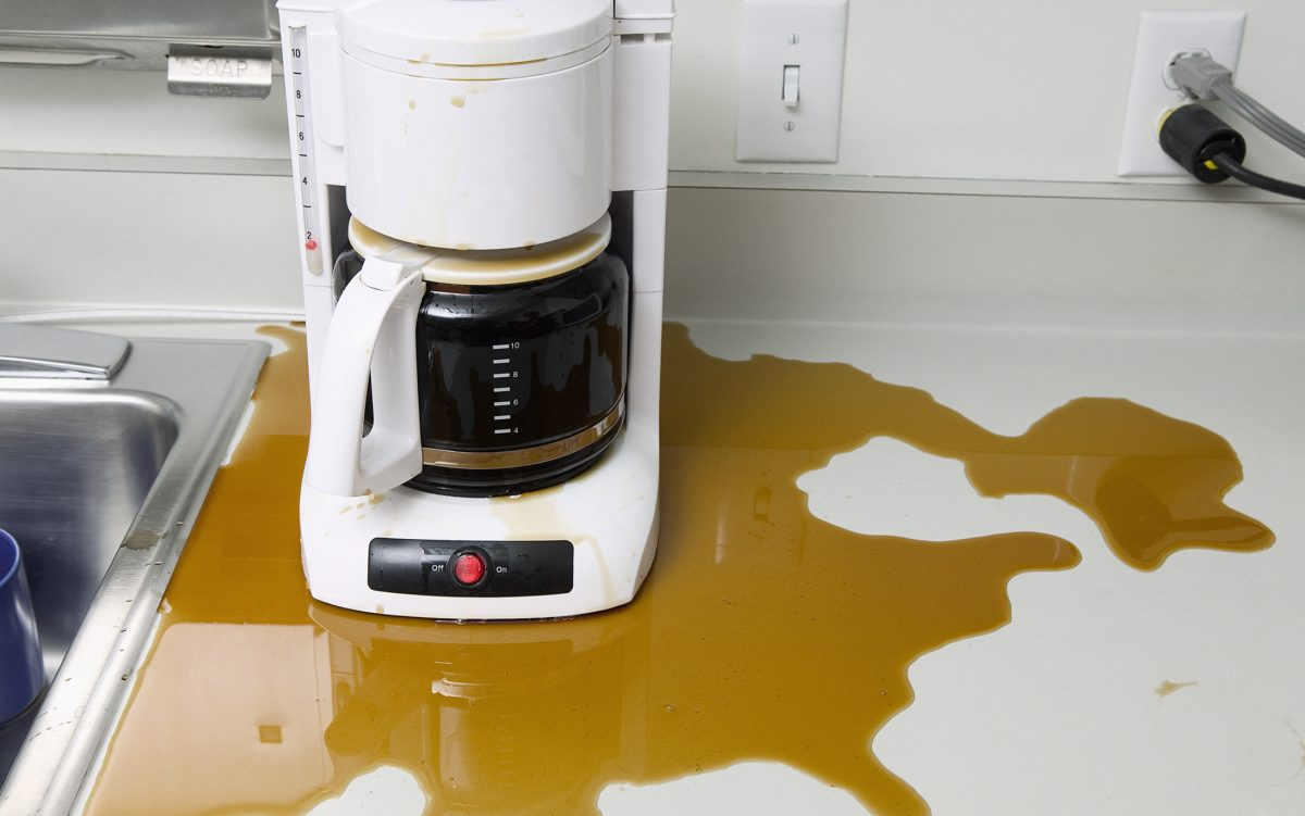 coffee maker spill