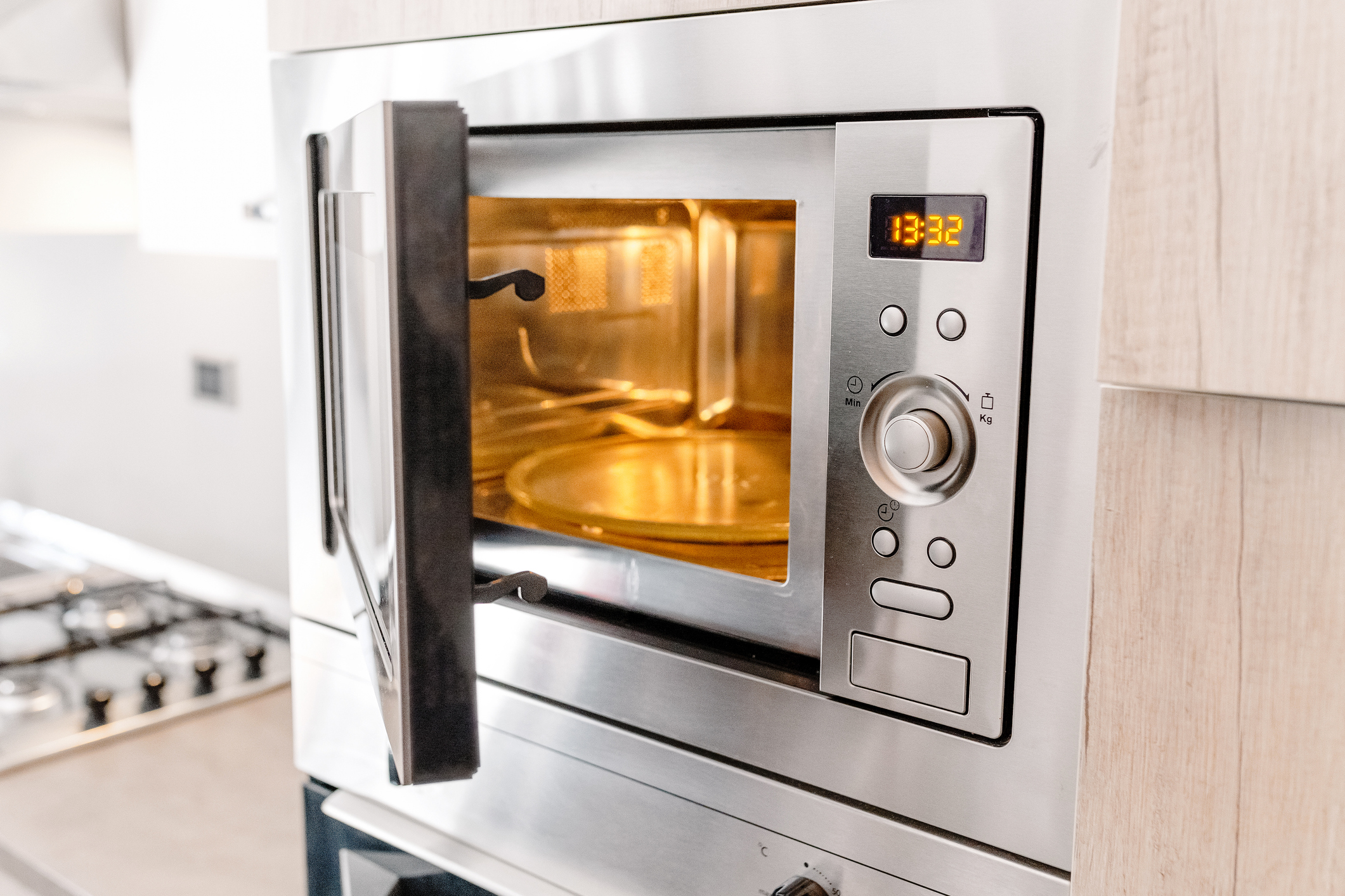 Modern kitchen microwave oven