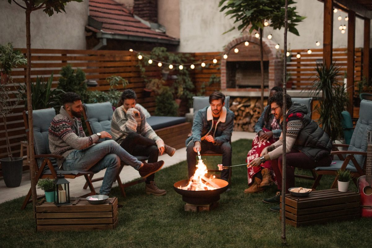 cozy fire pit outdoor space