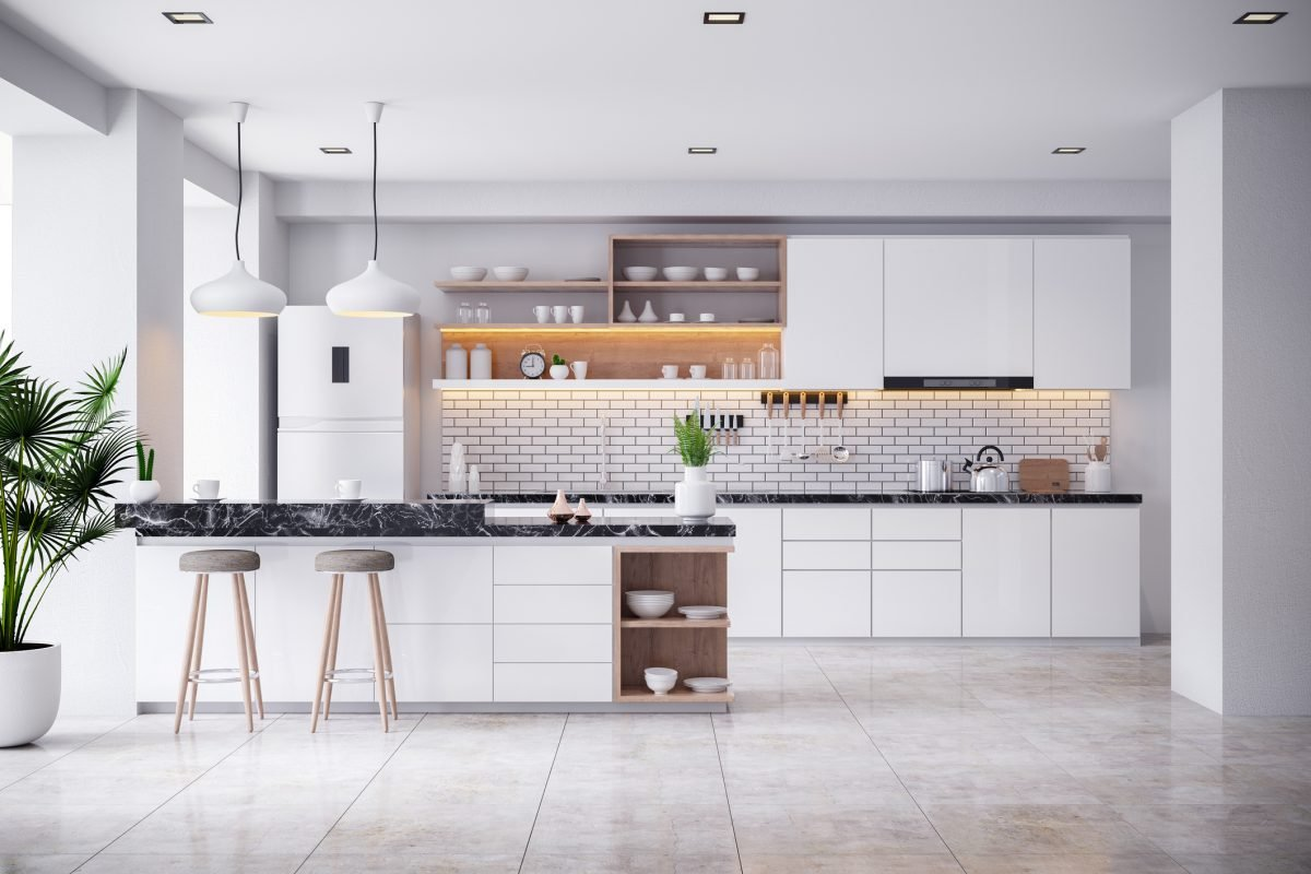 White makes a kitchen look clean and bright.