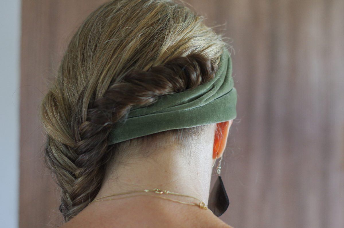 The graceful Dutch side braid enhances any style.