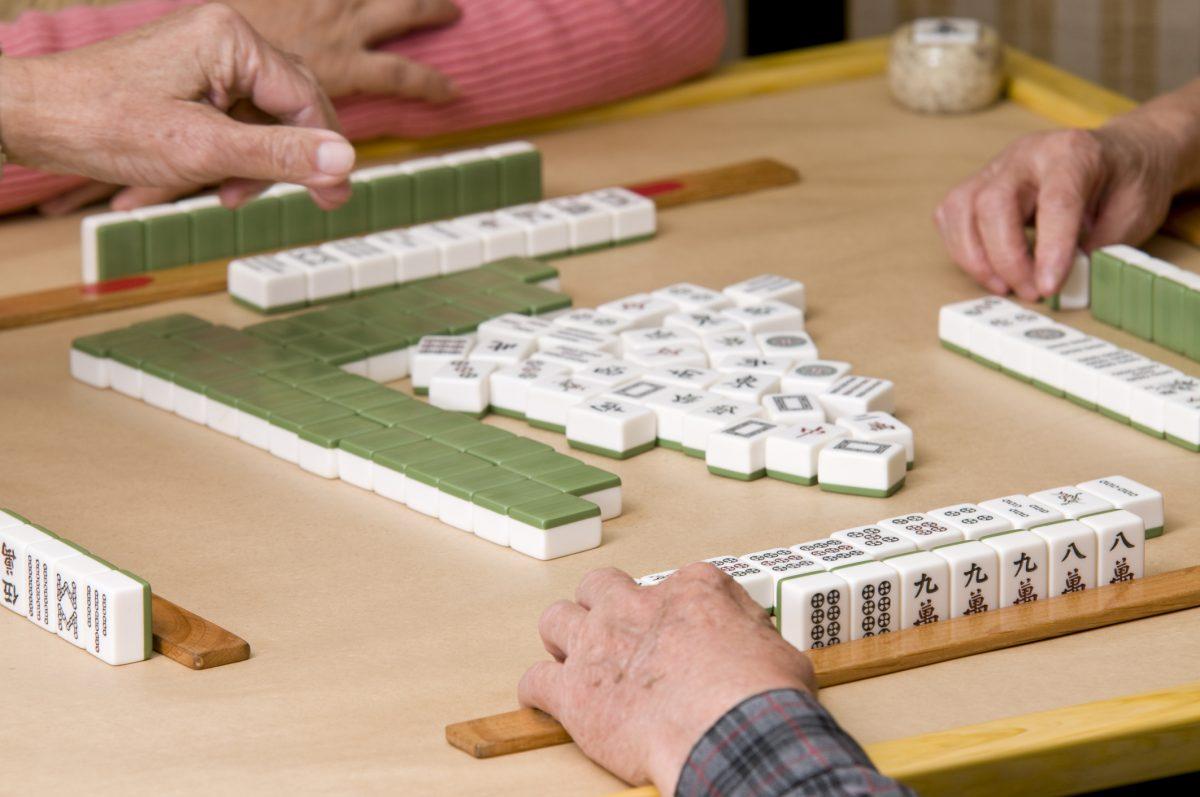 Exposed mahjong melds