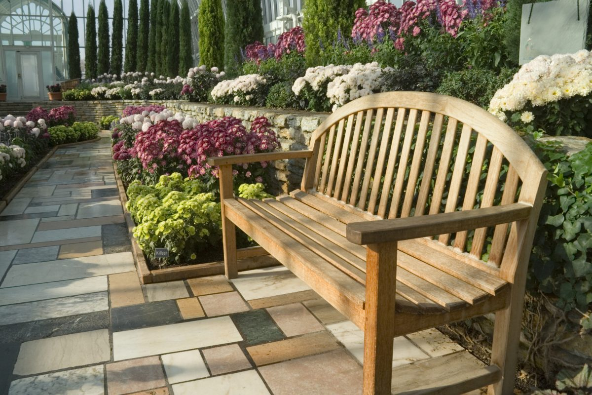 Landscaping ideas garden nook garden bench