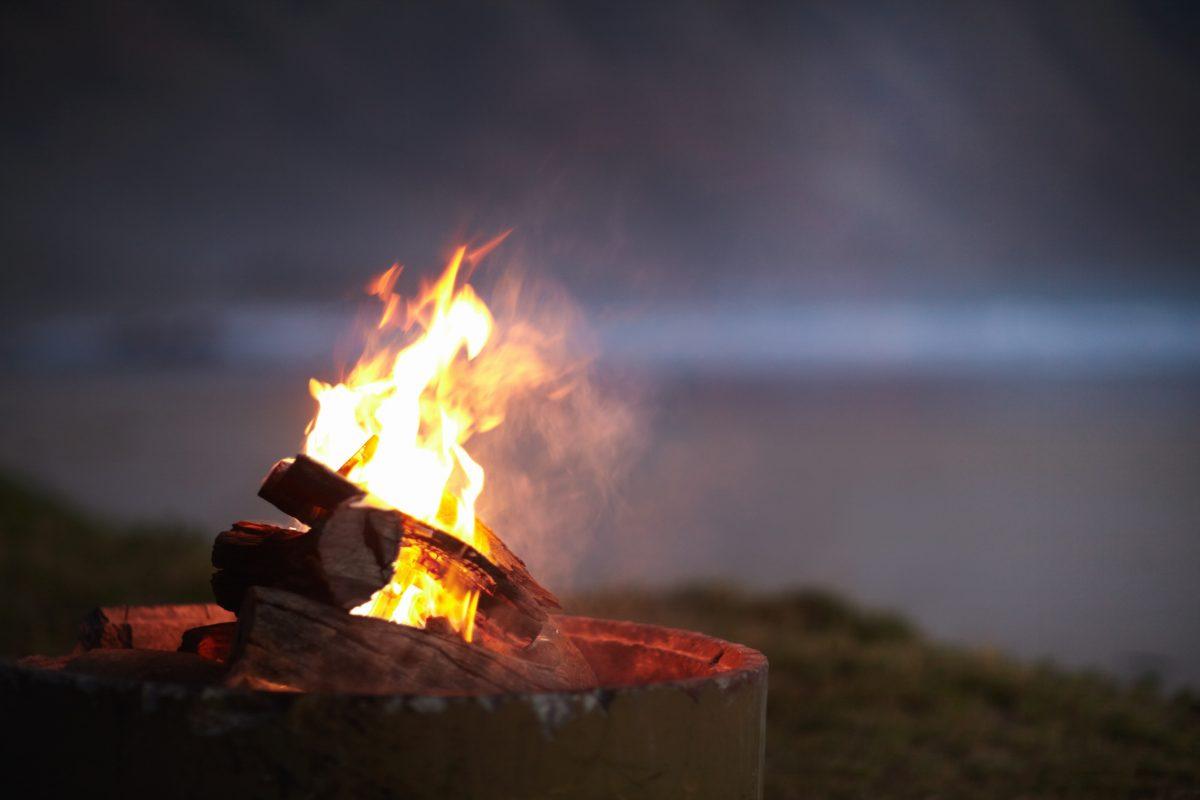 lighting fire pit