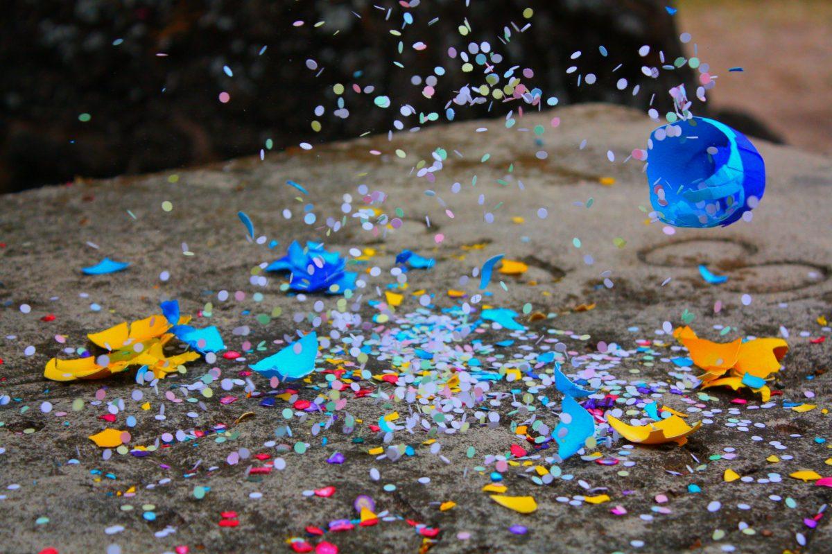 confetti eggs reveal