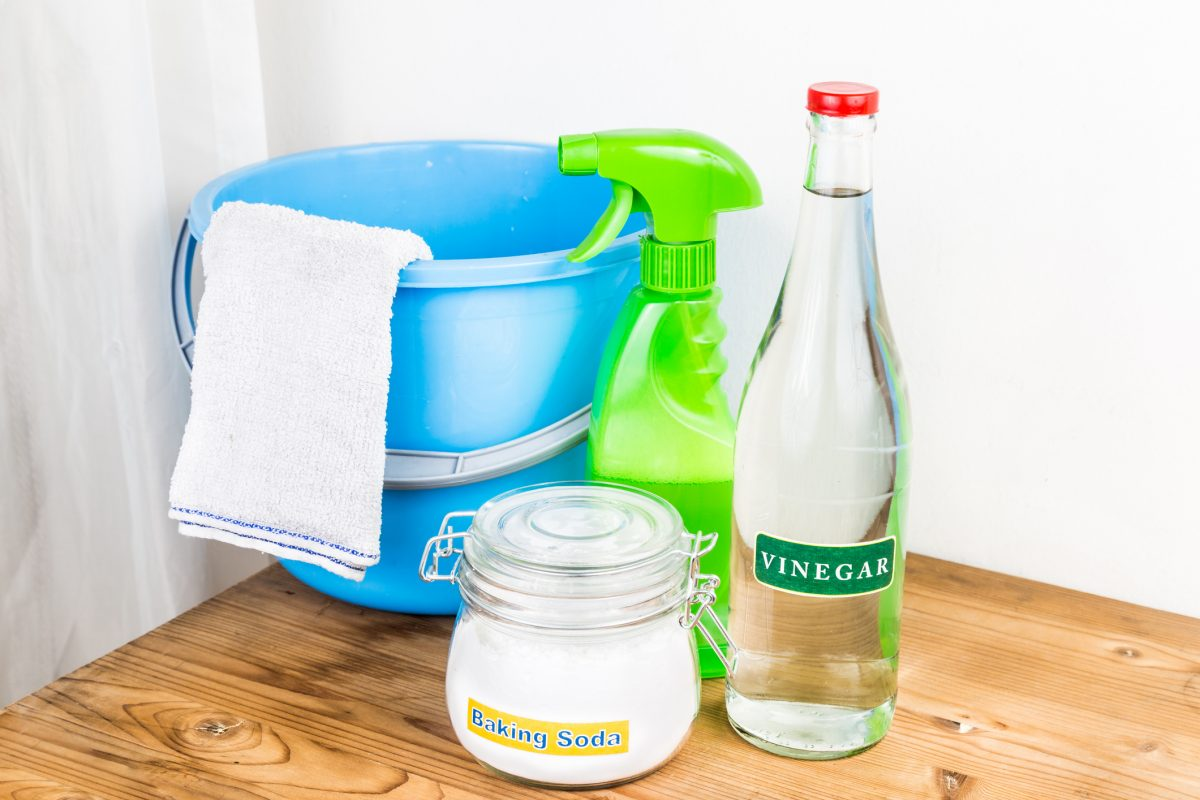 Most spots and stains are easily removed with natural cleaning products