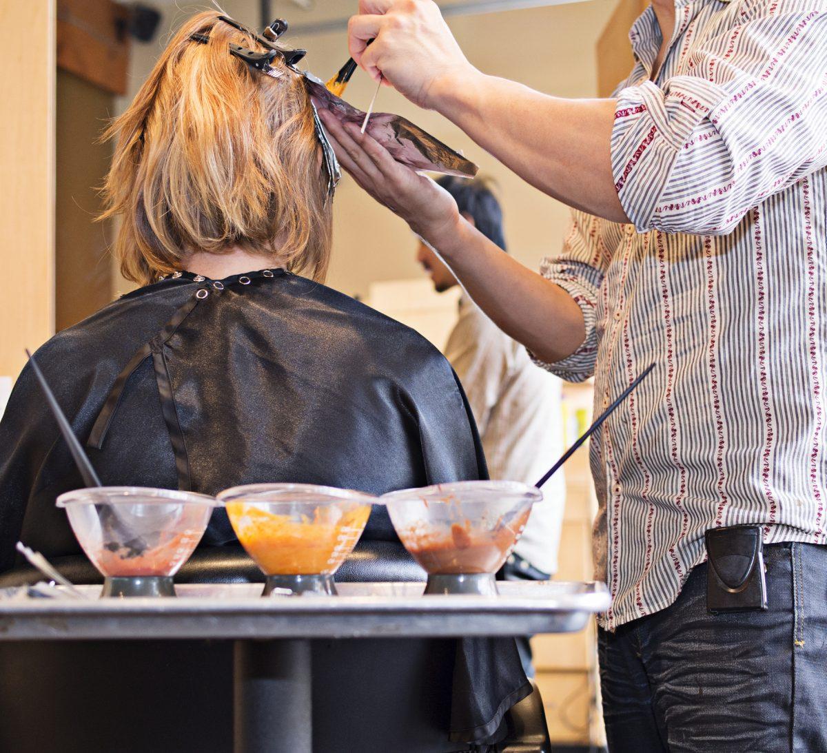 hairstylist hidden hair dye