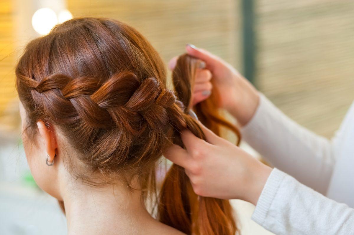 French braids diagonal French braids