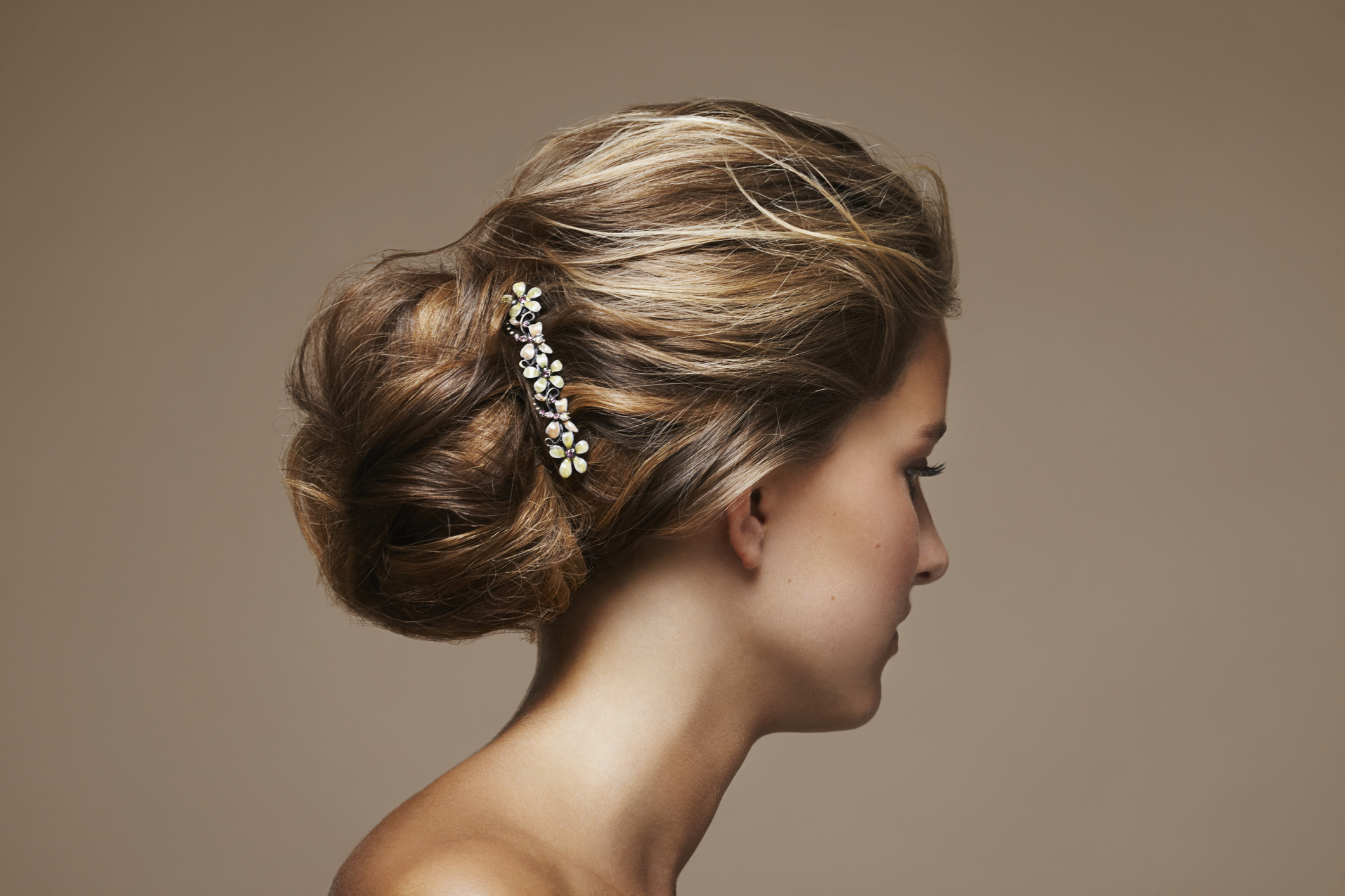 woman with chignon